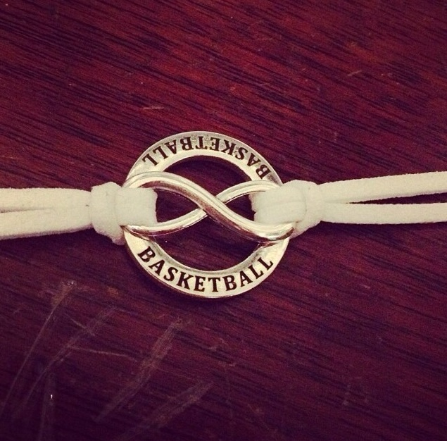 Basketball Forever Bracelet....custom colored strap