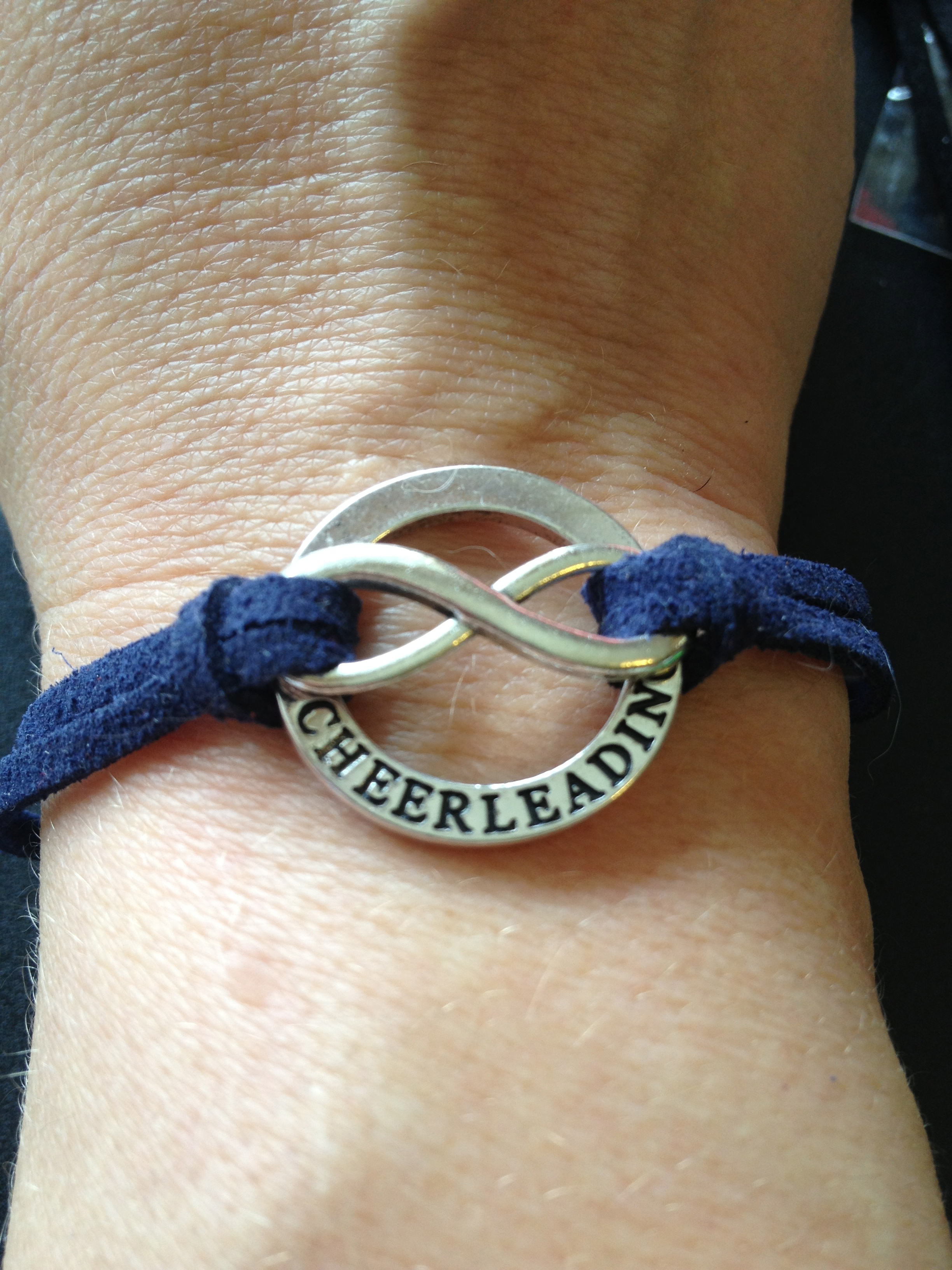 Cheerleading Forever Bracelet Custom Colored Strap